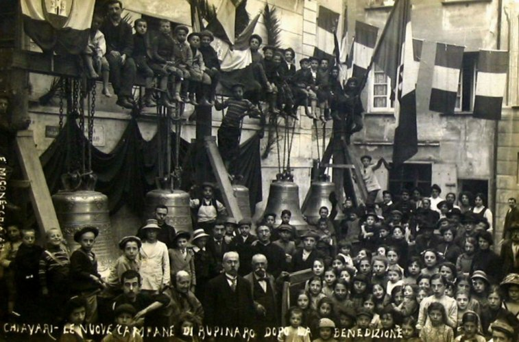Chiavari, 1912: le nuove campane di Rupinaro dopo la benedizione