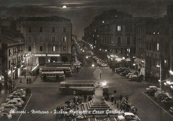 Chiavari 1963, vue la nuit
