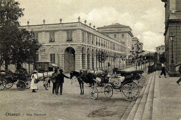 Chiavari, 1918: alla stazione