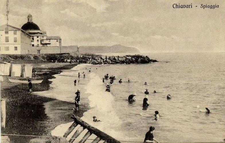 Chiavari: sur la plage