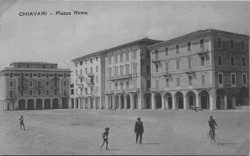 Chiavari 1910: Piazza Roma - à l'époque Stadio dell'Entella - photo de Riccardo Penna