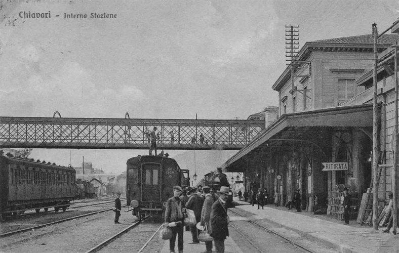 Chiavari 1916: stazione ferroviaria, il cavalcavia - foto di Riccardo Penna