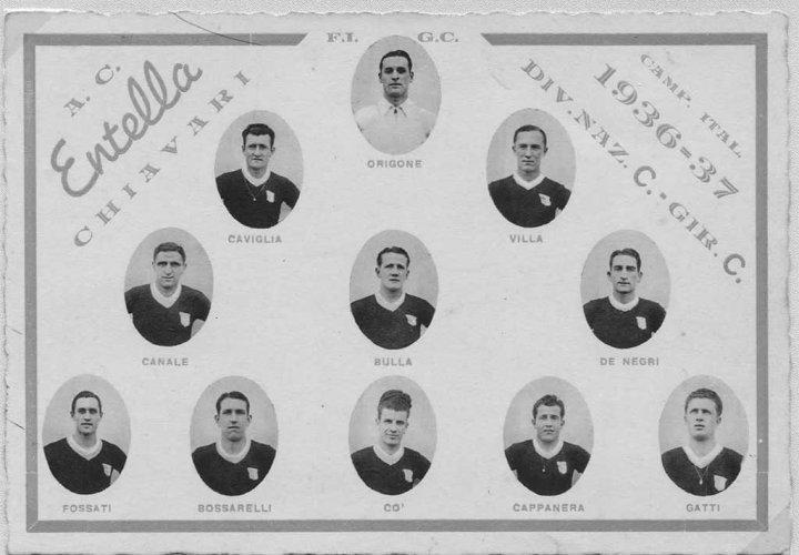 Chiavari 1936 - 1937: A.C. Entella, the soccer team - photo by Riccardo Penna
