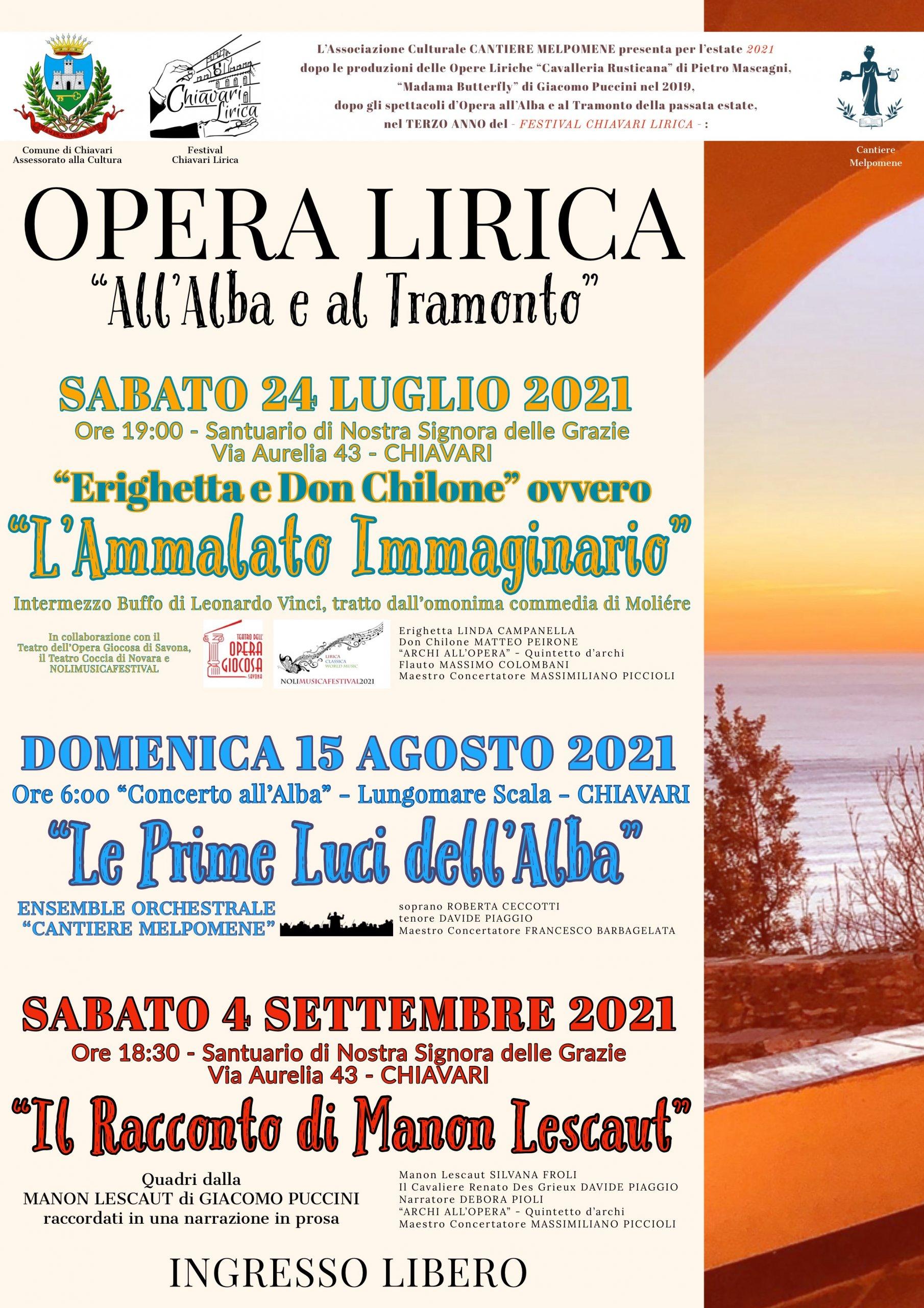 Guarda questa foto sull'evento Festival Opera Lirica, Concerti all'alba e al tramonto a Chiavari